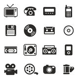 Old Technology Icons Stock Photo