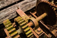 The Old Gears stock photography