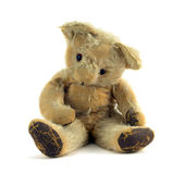 Old Teddy. Old ragged vintage teddy bear Royalty Free Stock Photography