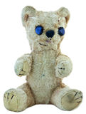 Old teddybear. Old teddy bear; faded, worn, repaired, but still loved Royalty Free Stock Images