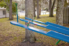 Old Teeter-Totter Stock Images
