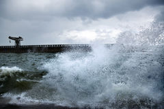 Stormy Harbor Royalty Free Stock Photos