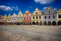 old telc town stock image