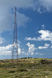 Old Telecommunications Tower. An old wartime telecommunications tower in Mtahleb in Malta Royalty Free Stock Photo