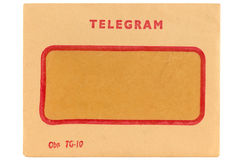 Old telegram envelope Royalty Free Stock Image
