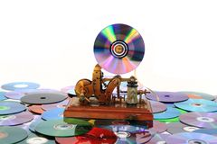 Old telegraph as music player Stock Image