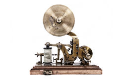 Old telegraph machine. Isolated on the white background Royalty Free Stock Images