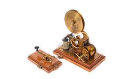 Old telegraph machine Stock Photo
