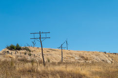 Old telegraph poles Royalty Free Stock Photography