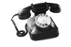 Old telephon Stock Photo
