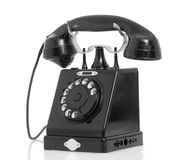 An old telephon. With rotary dial Royalty Free Stock Image