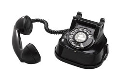 An old telephon with rotary dial Stock Photo