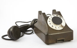 An old telephon with rotary dial Royalty Free Stock Photos
