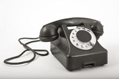An old telephon with rotary dial Stock Images