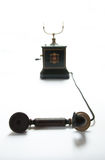 Old telephone. The Danish Jydsk phone, or corporation set, followed on the skeleton by enclosing the works and can still be found in remarkably good condition stock images