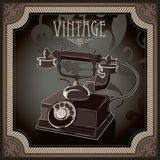 Old telephone. Vintage background with old telephone Royalty Free Stock Image