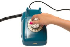 Old telephone. Royalty Free Stock Images