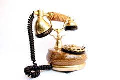 Old telephone. On white background,Telecommunication, Media Technologies Stock Photography