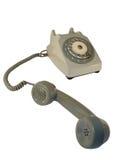 Old telephone. Off hook isolated on white background stock photo