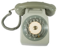 Old telephone. Off hook isolated on white background stock photography