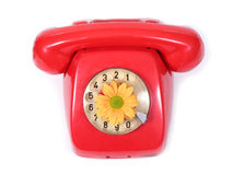 Old telephone. An old telephone with a rotary dial Stock Photography