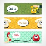Old telephone banners horizontal Stock Photo
