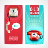 Old telephone banners vertical Stock Photography