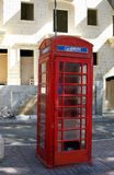 Old telephone booth. Red british style old telephone booth city malta Royalty Free Stock Image