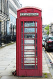Old telephone booth in  Edinburgh, Scotland Royalty Free Stock Images