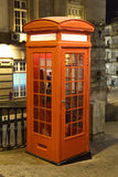 Old telephone booth in Porto Stock Photo