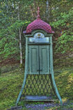 Old telephone booth from Sweden in HDR stock photo