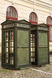Old Telephone booths in Czech Republic Royalty Free Stock Photo