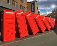 Old Telephone boxes Royalty Free Stock Image