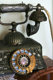 Old telephone close up Stock Images