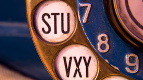 Old telephone detail Royalty Free Stock Photos