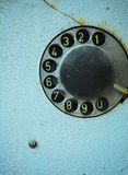 Old telephone dial Royalty Free Stock Image