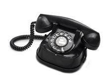 Old telephone dial.(clipping path) royalty free stock images