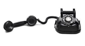 Old telephone dial.(clipping path) Royalty Free Stock Photo