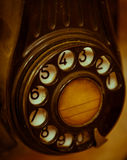 Old telephone dial Royalty Free Stock Photos