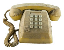 Old telephone with dust Stock Image