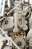 Old telephone equipment Stock Images