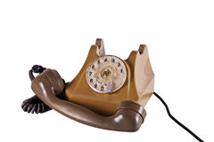 Old telephone with a handset Royalty Free Stock Photography
