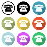 Old telephone icons Stock Photos