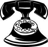 Old telephone illustration Royalty Free Stock Photo