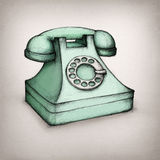 Old telephone. Illustration of an old-fashioned telephone Royalty Free Stock Images
