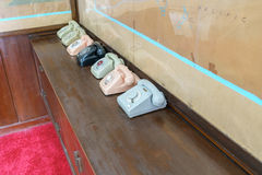 Old telephone in the Independence Palace Stock Image