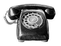 Old telephone isolate on white Stock Photos