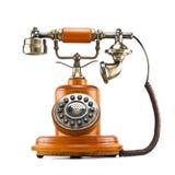 Old telephone. Isolated on white background Stock Photos