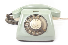 Old telephone isolated on white Royalty Free Stock Photos