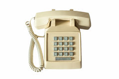 Old telephone isolated Royalty Free Stock Photos